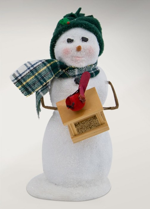 "Byers Choice Caroler - ""Snowman with Bird Feeder"" 2017"