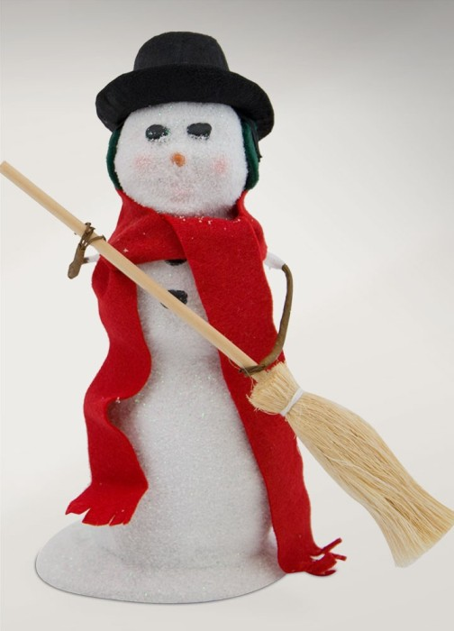 "Byers Choice Caroler - ""Snowman with Broom"" 2017"