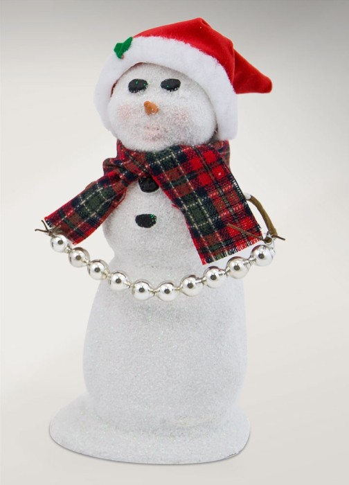Byers Choice Caroler - Snowman with Santa Hat 2017