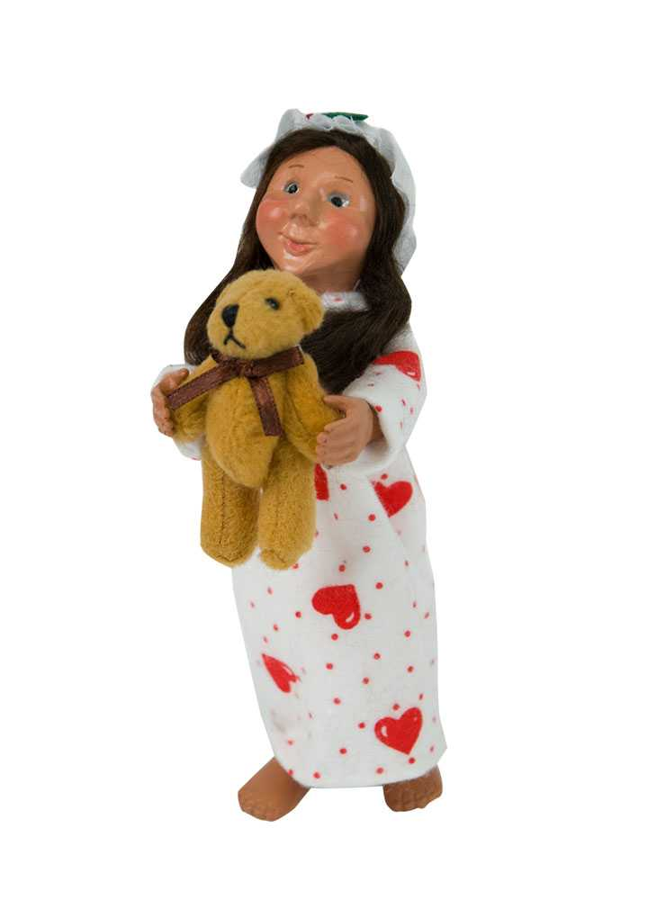 Byers Choice Caroler - Valentine Toddler with Teddy 2018