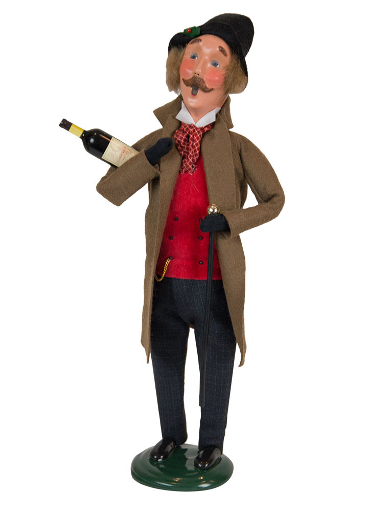 Byers Choice Caroler - Victorian Man with Wine 2018