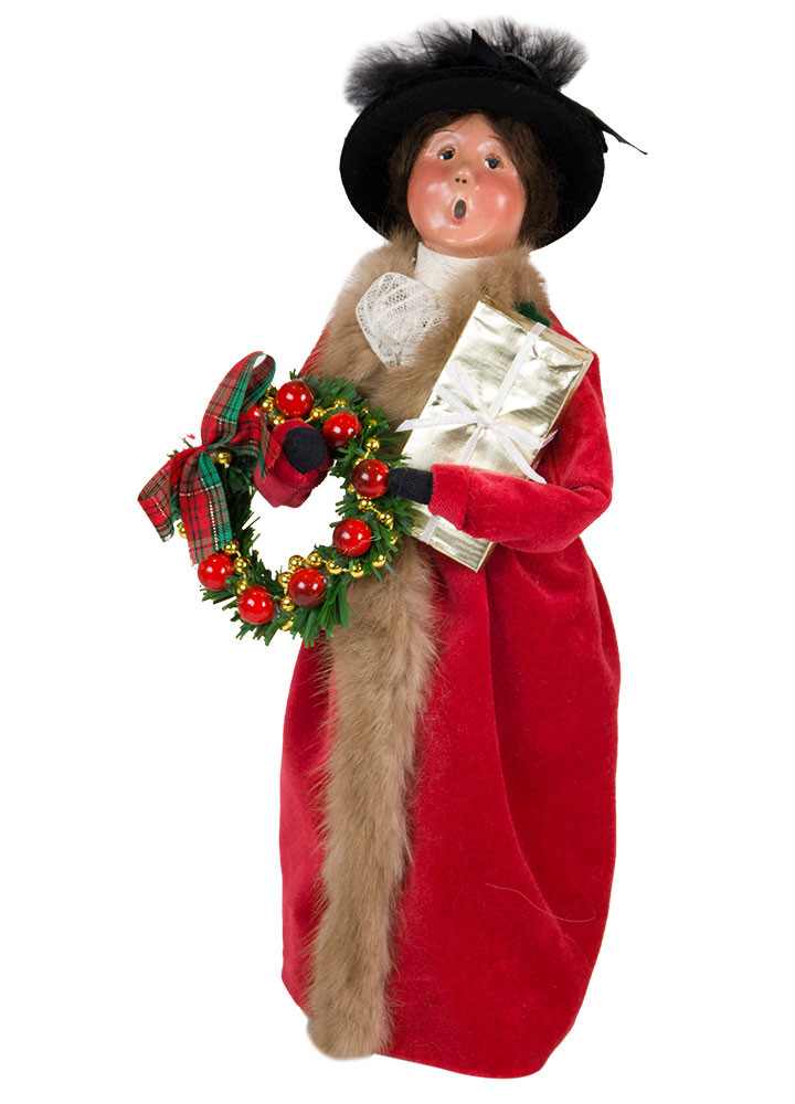 Byers Choice Caroler - Victorian Woman with Gift 2018