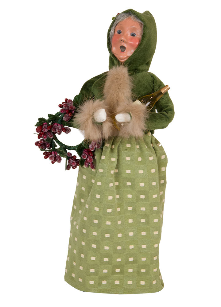 Byers Choice Caroler - Wine Mrs. Claus 2018