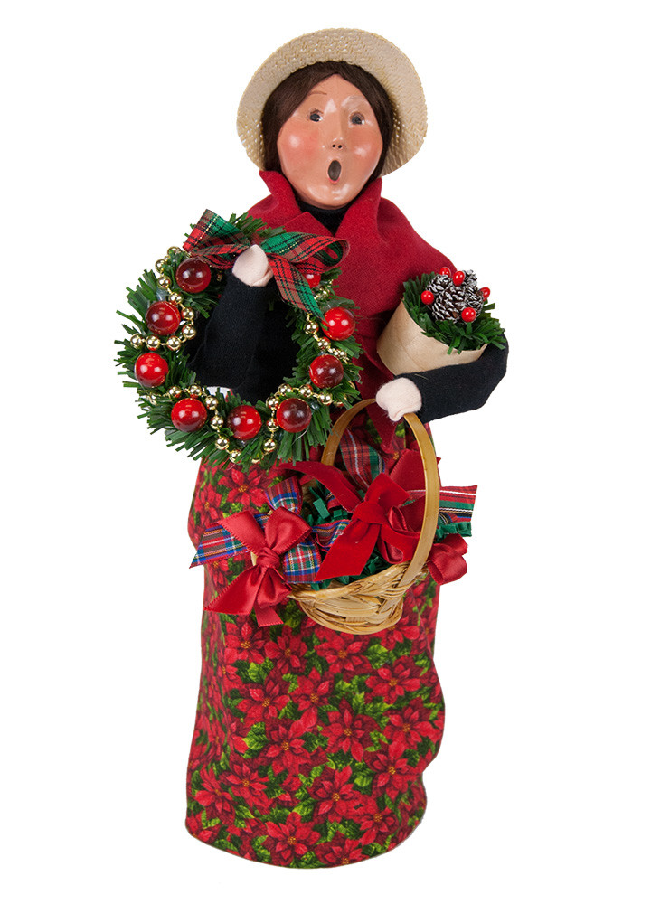 "Byers Choice Caroler - ""Wreath Vendor"" 2018"