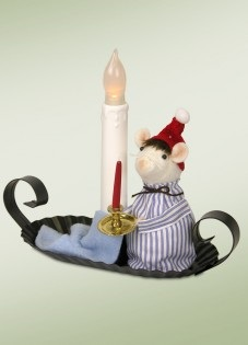 "Byers Choice Felt Mice - ""Mouse In A Nightshirt"""