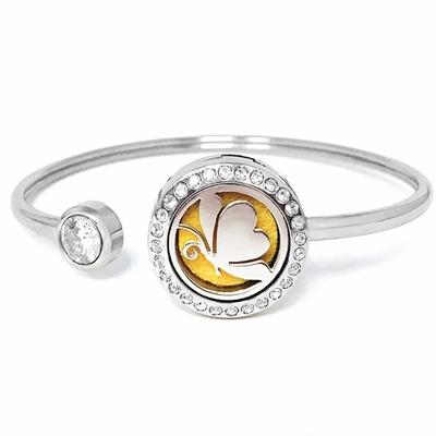 """C.T. Hill Essential Oil Bangle - """"Butterfly"""" - 0.875in Diameter"""