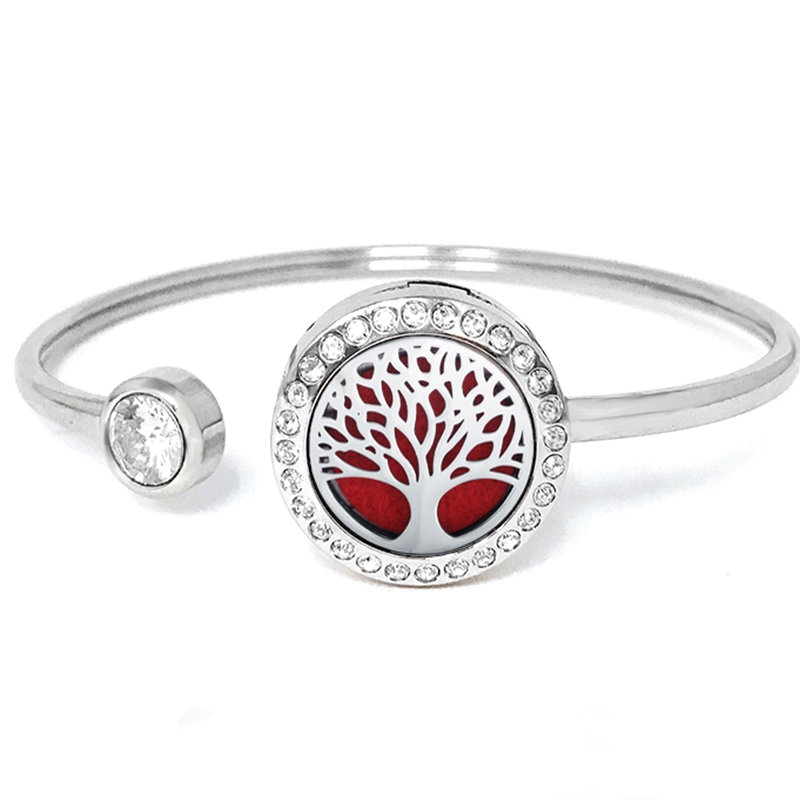 "C.T. Hill Essential Oil Bangle - ""Family Tree"" - 0.875in Diameter"
