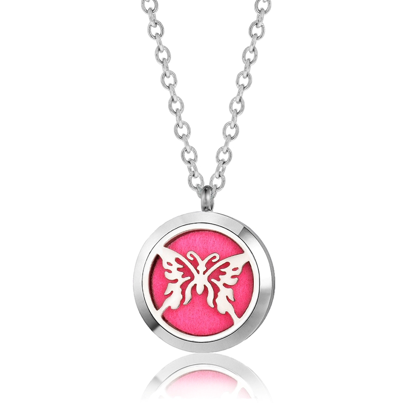 "C.T. Hill Essential Oil Necklace - ""Butterfly"" - 1.18in Diameter"