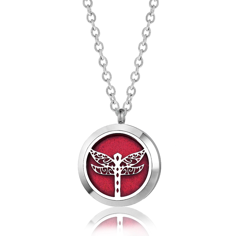 "C.T. Hill Essential Oil Necklace - ""Dragonfly"" - 1.18in Diameter"