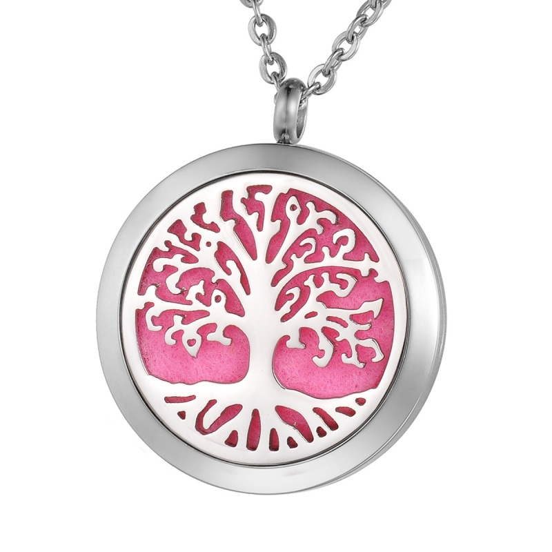 "C.T. Hill Essential Oil Necklace - ""Family Tree"" - 1.18in Diameter"