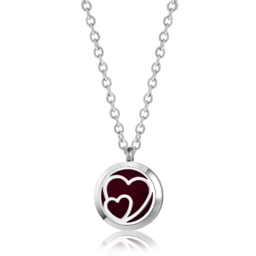 "C.T. Hill Essential Oil Necklace - ""Interlocking Hearts"" - 0.875in Diameter"