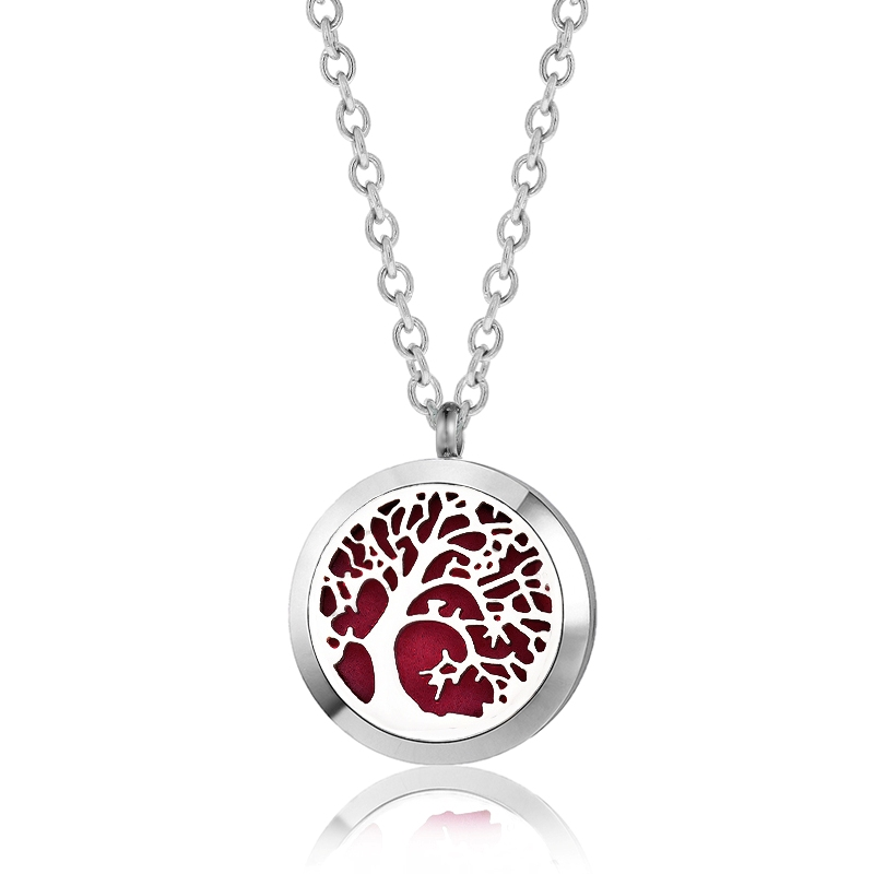 C.T. Hill Essential Oil Necklace - Leaning Tree - 1.18in Diameter