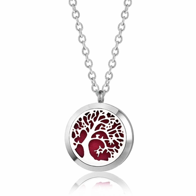 "C.T. Hill Essential Oil Necklace - ""Leaning Tree"" - 1.18in Diameter"