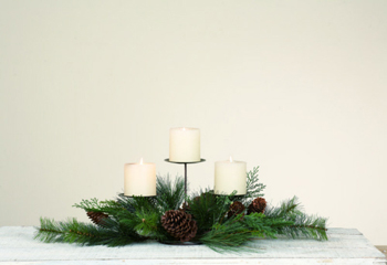 "Candle Holder - ""Sierra Pine Candle Holder""  - Triple"