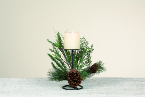 "Candle Holder - ""Sierra Pine Candle Holder""  - Single"