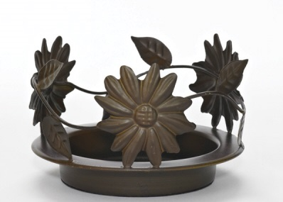 Sunflower Candle Pan - Bronze - 6.25 Inch