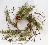 """Candle Ring - """"Country Cedar Candle Ring"""" - 4"""""""