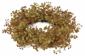 """Candle Ring - """"Eucalyptus Candle Ring"""" - Rust - 6.5 Inch"""