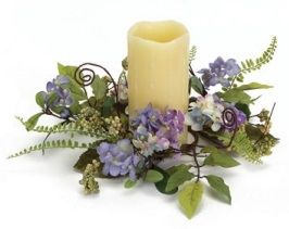 "Candle Ring - ""Hydrangea Candle Ring"" - Small"