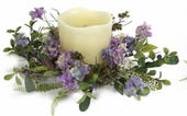 "Candle Ring - ""Hydrangea Candle Ring"" - Large"