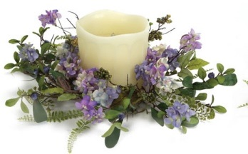 """Candle Ring - """"Hydrangea Candle Ring"""" - Large"""
