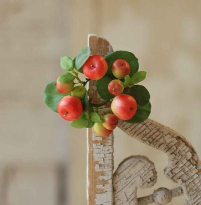 Matte Red Mixed Fruit Candle Ring - 1in