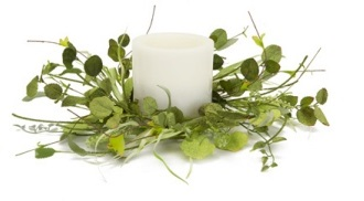 "Candle Ring - ""Mixed Foliage Candle Ring"" - Large"
