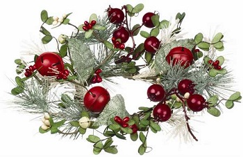 candle ring pine and berry candle ring - Decorative Christmas Candle Rings