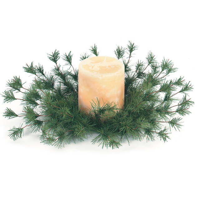 "Candle Ring - ""Pine Candle Ring"" - 4.5"""