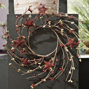 "Candle Ring - ""Pip Berry With Stars Candle Ring"" - 3.5"""
