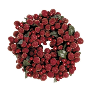 "Candle Ring - ""Burgundy Frost Candle Ring"" - 2"""
