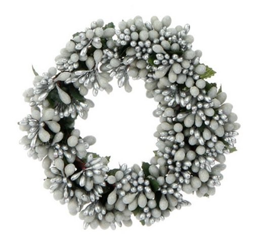 "Christmas Berry Tree Hawaii: ""White/Silver Berry Candle Ring"""