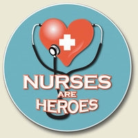 "Car Coaster - ""Nurses are Heroes"""