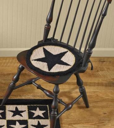 "Chairpad - ""Black Star Hooked Chairpad"""