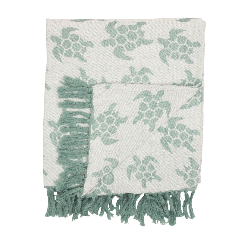 Chenille Throw - Sea Turtles - 60in