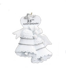 "Christmas Ornament - ""25th Anniversay Ornament"""