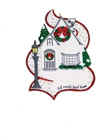 "Christmas Ornament - ""All Roads Lead Home Ornament"""