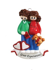 "Christmas Ornament - ""An Expecting Couple Ornament"""