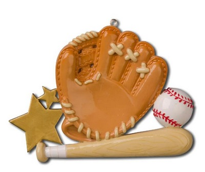"Christmas Ornament - ""Baseball Glove Ornament"""