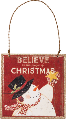 "Christmas Ornament - ""Believe In The Magic Of Christmas Ornament"""