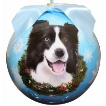 "Christmas Ornament - ""Border Collie"""