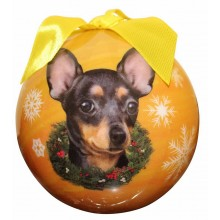 "Christmas Ornament - ""Chihuahua"" - Black"