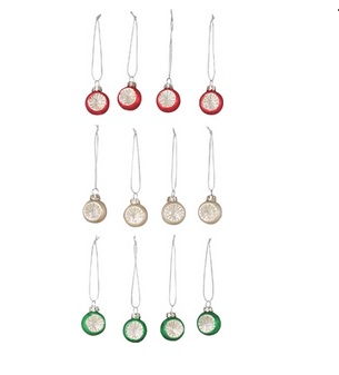 "Christmas Ornament - ""Christmas Ball Ornament Set"" - Set of 12"
