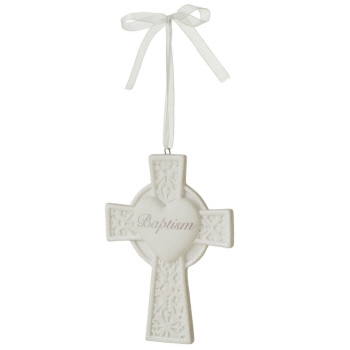 "Christmas Ornament - ""Cross - Baptism Ornament"""