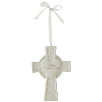 "Christmas Ornament - ""Cross - First Communion Ornament"""
