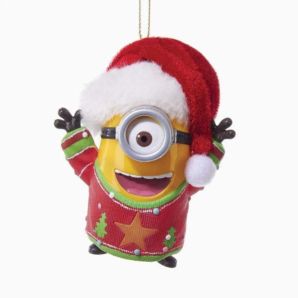 "Lights & Sound Christmas Ornament - ""Despicable Me� Minion"" - 2.75in"