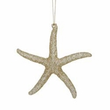 "Christmas Ornament - ""Glitter Starfish Ornament"""