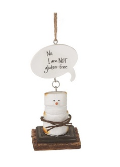 Christmas Ornament - S'mores NOT Gluten Free Ornament