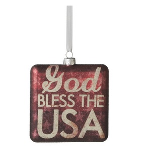 Christmas Ornament - God Bless The USA