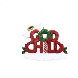 "Christmas Ornament - ""God Child Ornament"""
